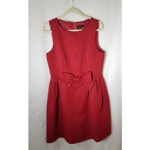Tahari red dress with a bow